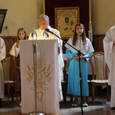 Czytania na mszy pożegnalnej w Miłoradzicach