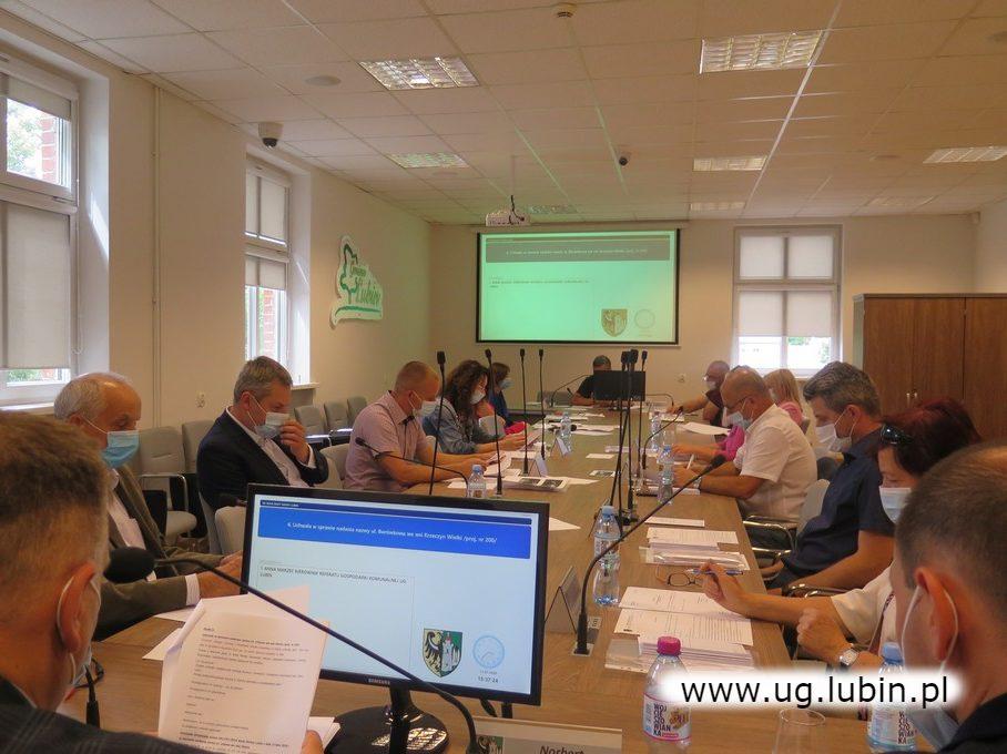 Obrady radnych gminy Lubin