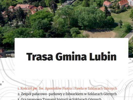 Trasa gminy Lubin- aplikacja