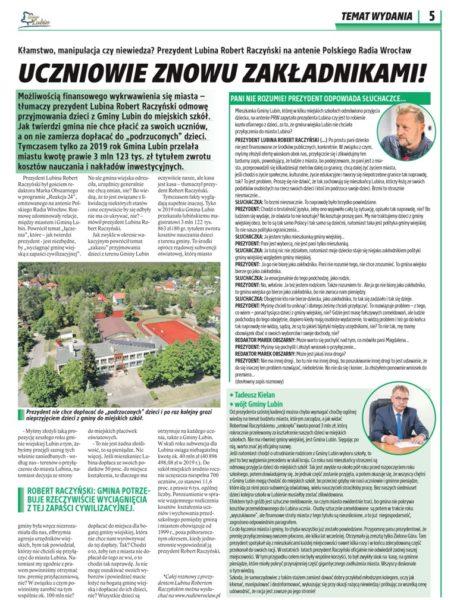 """Gazetka """"Wiadomości gminne Gminy Lubin"""""""