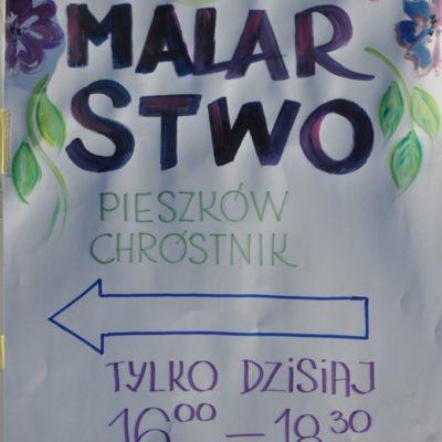 Plakat Malarstwo Pieszków Chróstnik