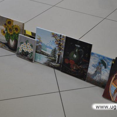 Malarstwo i rysunki w Ośrodku Kultury Gminy Lubin