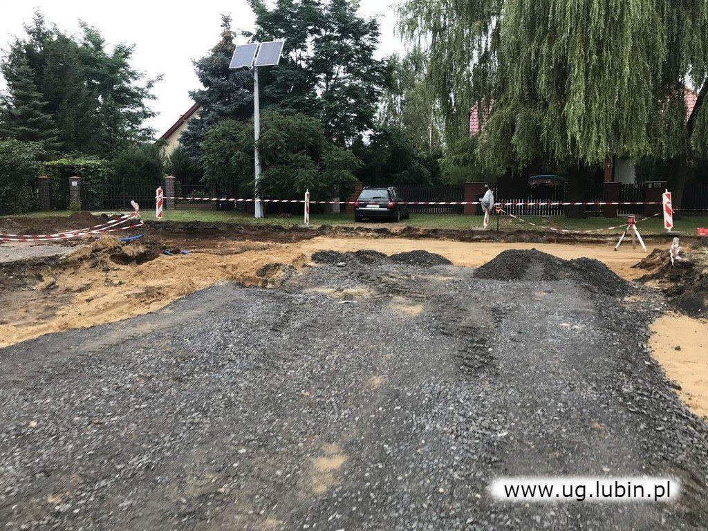 Budowa drogi w Szklarach Górnych