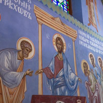 Malowidła na ścianach kościoła prawosławnego