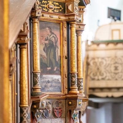 Wnętrze kościoła w Szklarach Górnych