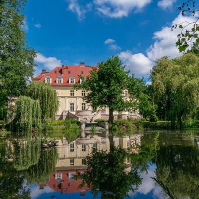 Pałac w Krzeczynie Wielkim-widok z wody