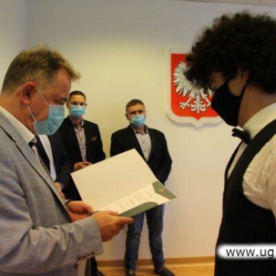 Wójt Tedeusz Kielan z przedstawicielami Rady