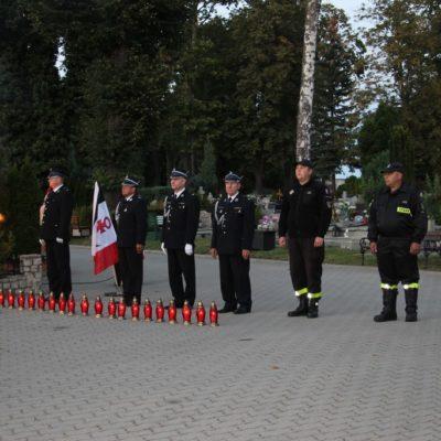 Wartę honorową pełnili strażacy z gminnych jednostek OSP