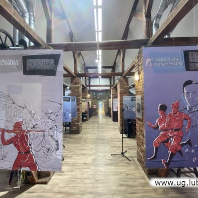 Wystawa plakatów w gminnym mini-muzeum