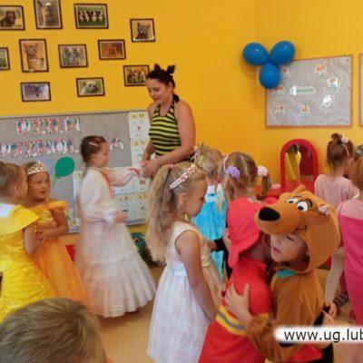 Zabawy w przedszkolu w oddziale zamiejscowym w Lubinie