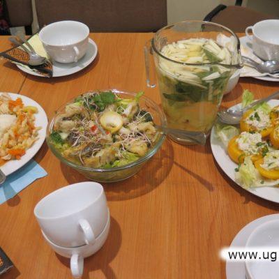 Potrawy przygotowane na warsztatach