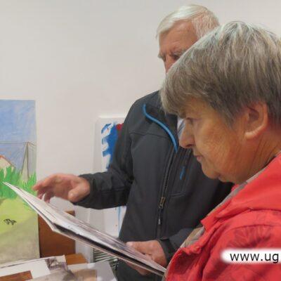 Goście wernisażu rozpoznawali na pracach wiele miejsc z Czerńca.