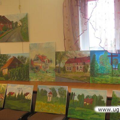 Efektem warsztatów jest m.in. kilkadziesiąt obrazów domów z Czerńca.