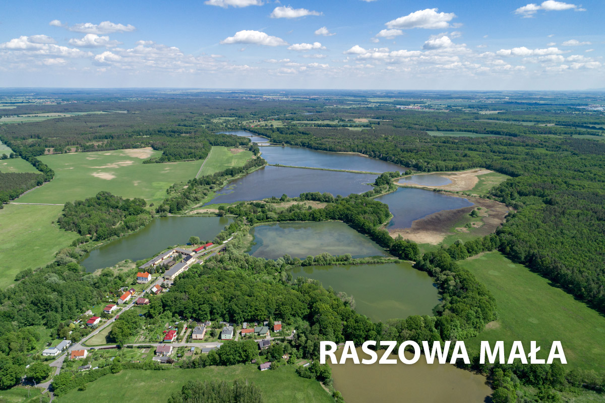 Raszowa Mała- widok z góry na piękne jeziora
