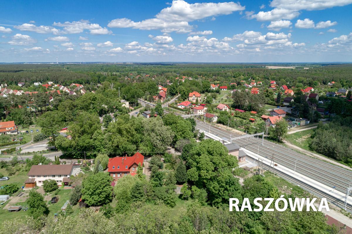 Widok na wioskę Raszówka