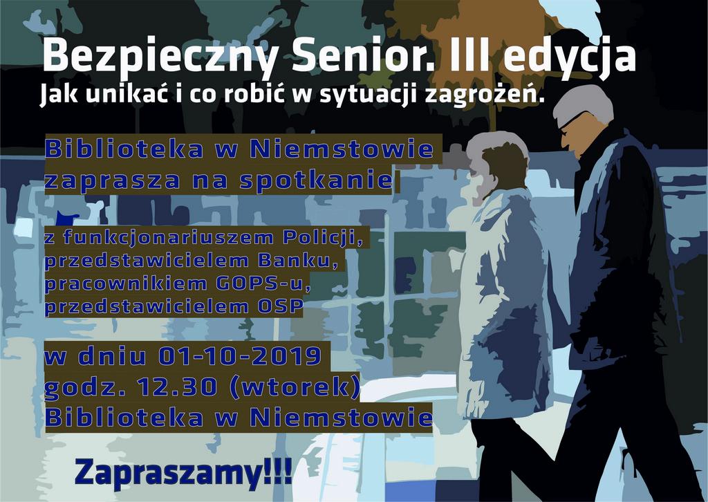 Bezpieczny senior-plakat