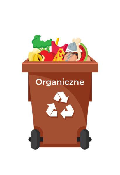 Ilustracja pojemnik na odpady-organiczne