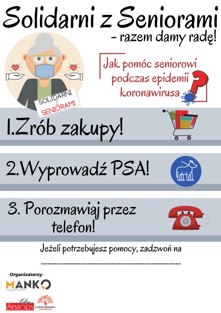 Plakat Solidarni z Seniorami – Razem Damy Radę!