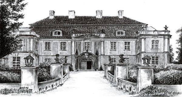Szkic pałacu w Raszowej