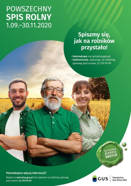 Plakat reklamujący spis rolny
