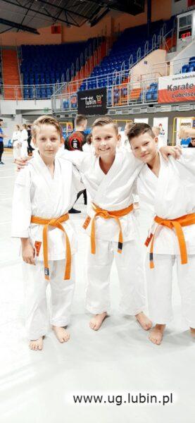 Od lewej Mateusz Turbiński, Natal Lewandowski i Hubert Polniak.