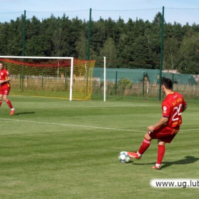 Piłkarz Unii w grze na boisku