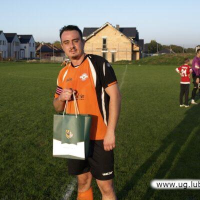 Damian Rudak najlepszy zawodnik z Fortuny Obora.