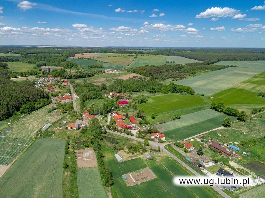 Wioski Gminy Lubin- widok z drona