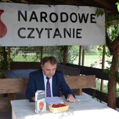 Wójt Tadeusz Kielna czyta Balladynę