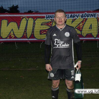 Michał Kogus zdobył w tym meczu pięć bramek.
