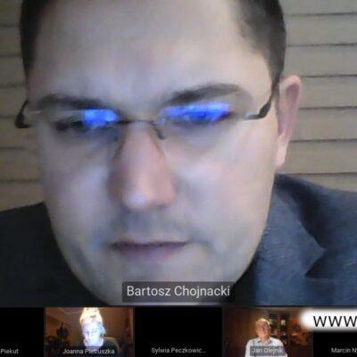 W wirtualnej dyskusji udział wziął także Bartosz Chojnacki zastępca wójta.