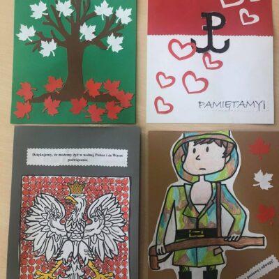 Kartki stworzone przez dzieci.