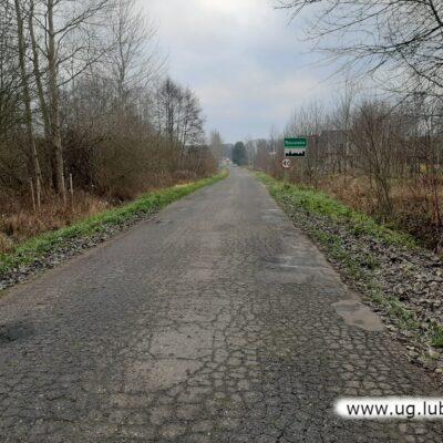 Droga Grzelin-Raszówka przed remontem