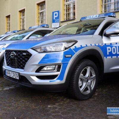 Nowe radiowozy dla lubińskiej policji.