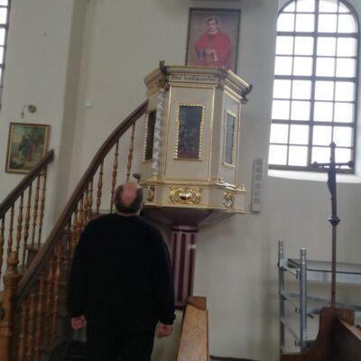 Tegoroczne prace konserwatorskie w w kościele.
