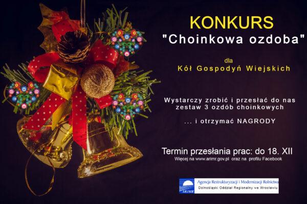 Plakat reklamujący konkurs