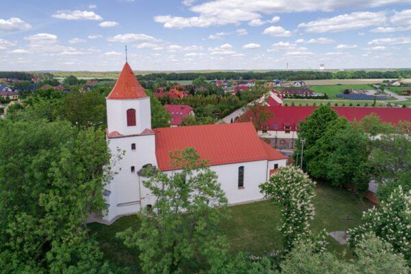 Wieża Kościoła Św. Antoniego przed rozpoczęciem prac.