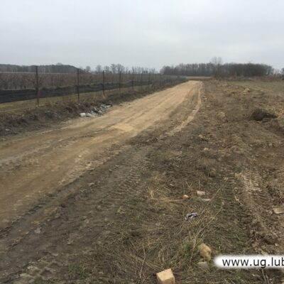 Prace przy budowie drogi