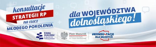 Baner kosultacji dla województwa dolnośląskiego.