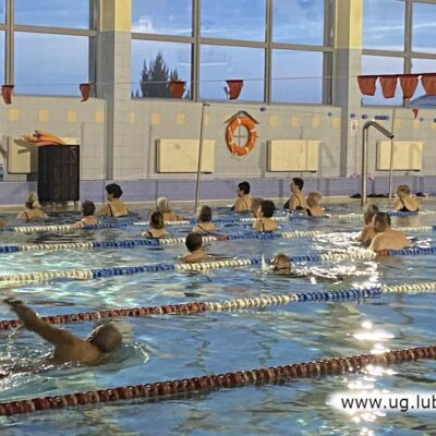 W marcu udało się jeszcze zorganizować wspólne zajęcia na basenie