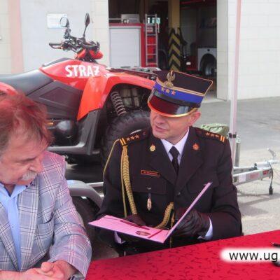 Uroczystość przekazania nowych samochodów dla PSP