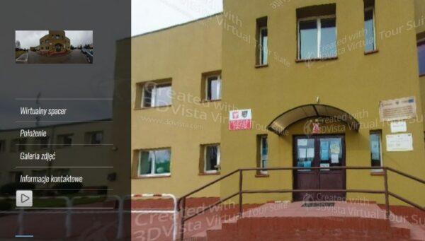 Wirtualny spacer - front budynku szkoły