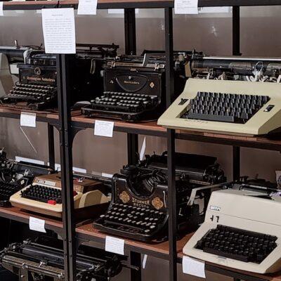 Maszyny prezentowane na wystawie.