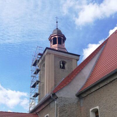 Wieża kościoła w Gogołowicach