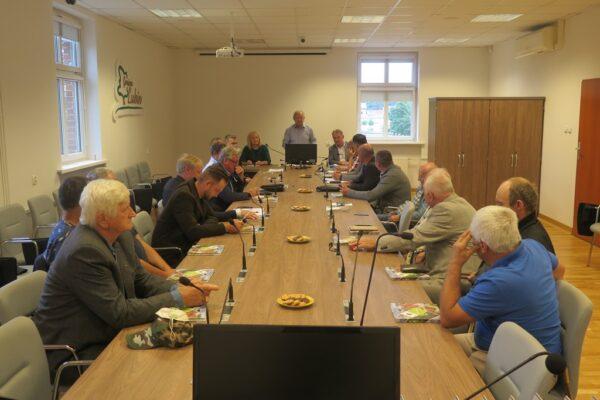 Posiedzenie rady powiatowej DIR w UG w Lubinie.